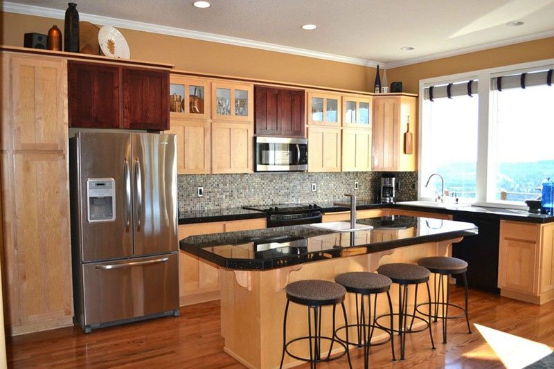 27 Best Black Pearl Granite Countertops Design Ideas on What Color Granite Goes With Maple Cabinets  id=94480