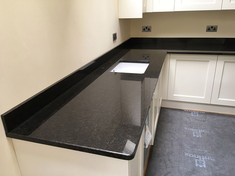27 best black pearl granite countertops design ideas for White kitchen cabinets with black galaxy granite