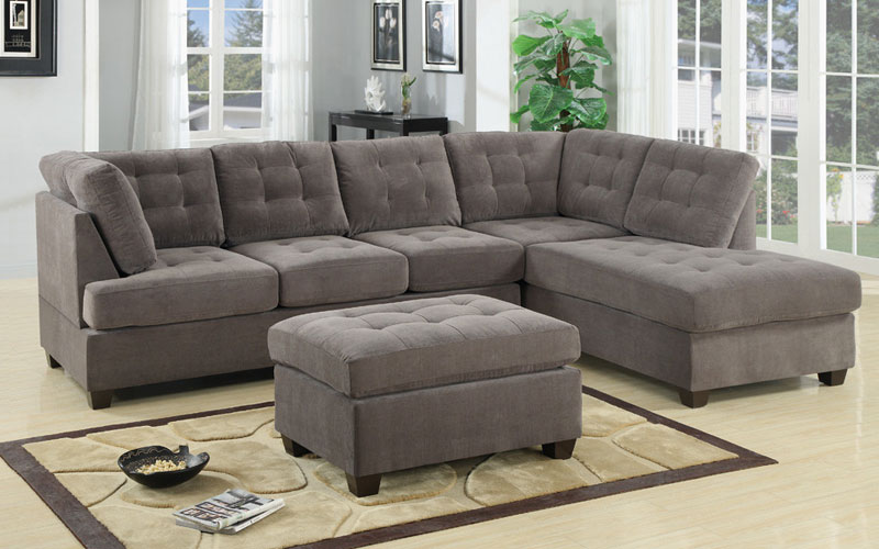 Cheap Reversible Chaise Sectional Sofa