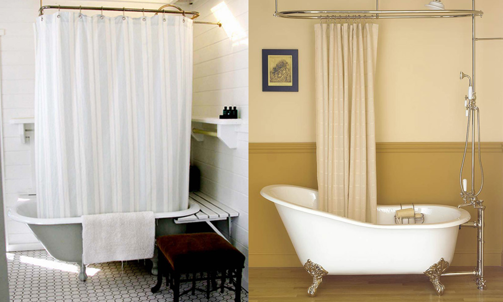 best shower curtain for clawfoot tubs