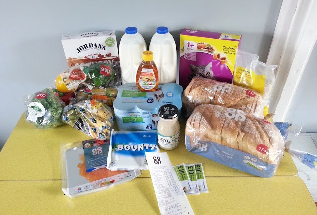 Coupon Wins July 2016 - Click on the picture to see how we got this grocery haul for £1.11!