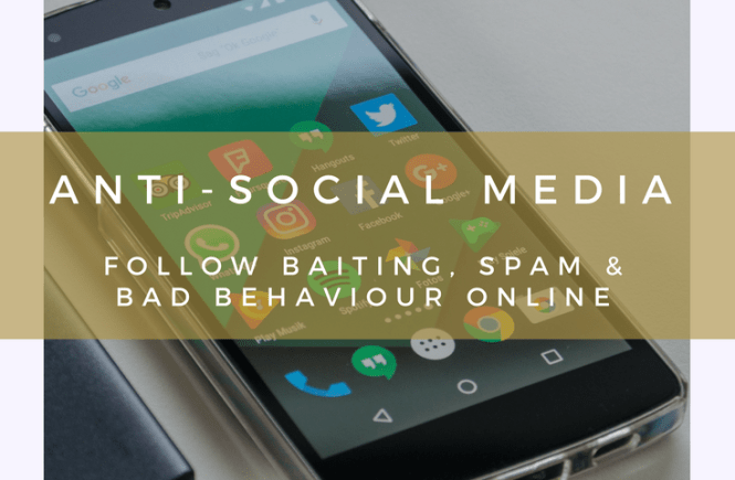Have you experienced the Twitter and Instagram follow-unfollow scam? Or the epidemic of fake followers? I've written about this in this post about anti-social media: follow-baiting, spam and bad behaviour online.