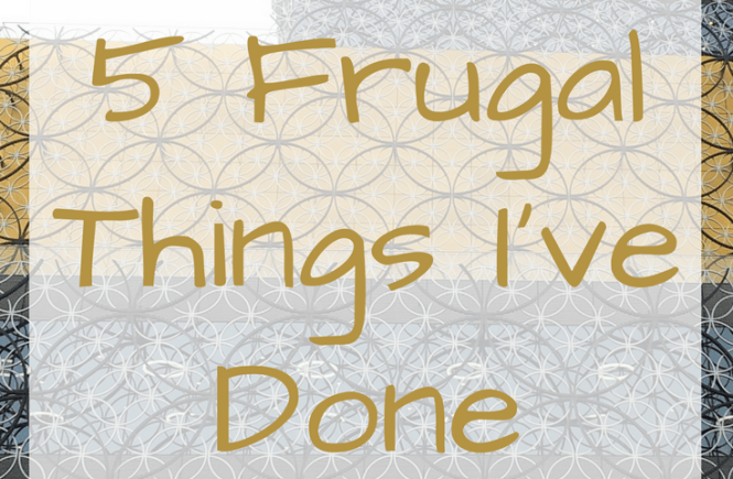 Half term can be expensive - here are 5 frugal things we've done to make this past week more affordable! Click on the picture to read more about my 5 frugal things on homelyeconomics.com