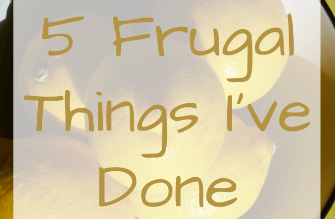 Click on the picture to read about the frugal things my family and I have been up to this week!