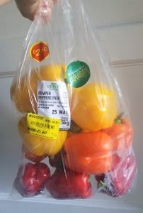 A big pack of peppers at a reduced price - one of 5 frugal things we did this week.