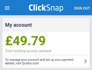 Quidco Clicksnap reviewed by Homely Economics