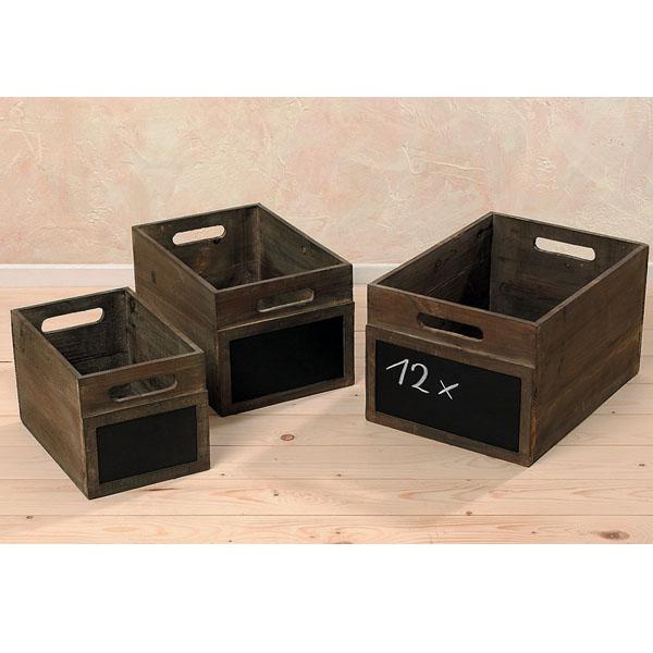 Kisten mit Beschriftungsfeld