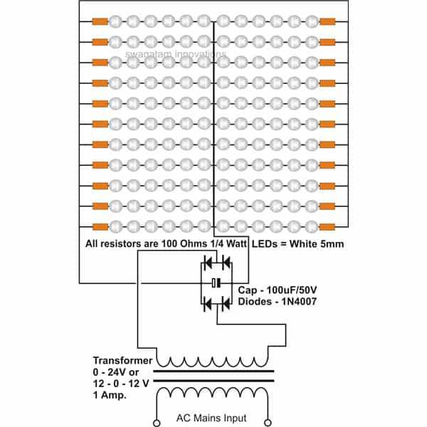 simple led circuit diagram ac  data wiring diagrams •