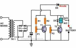 Self Regulating Lead Acid Battery Charger Circuit