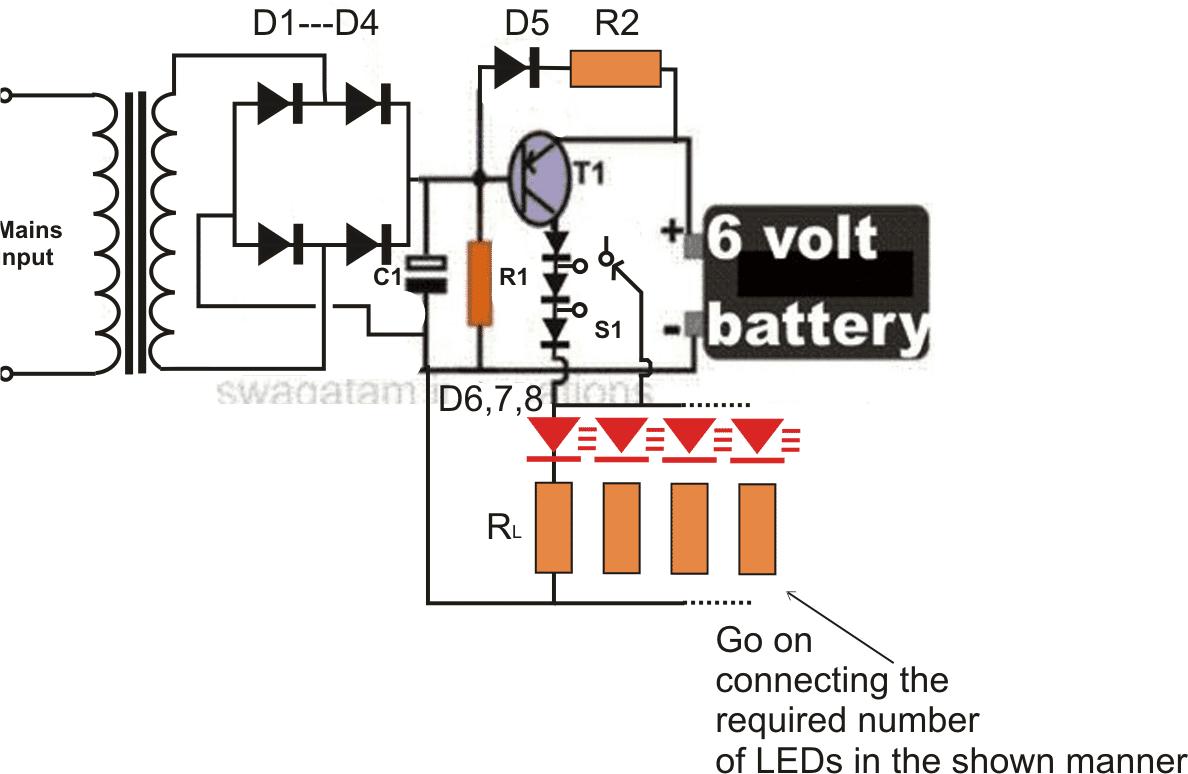 12v Led Lamp Circuit Diagram