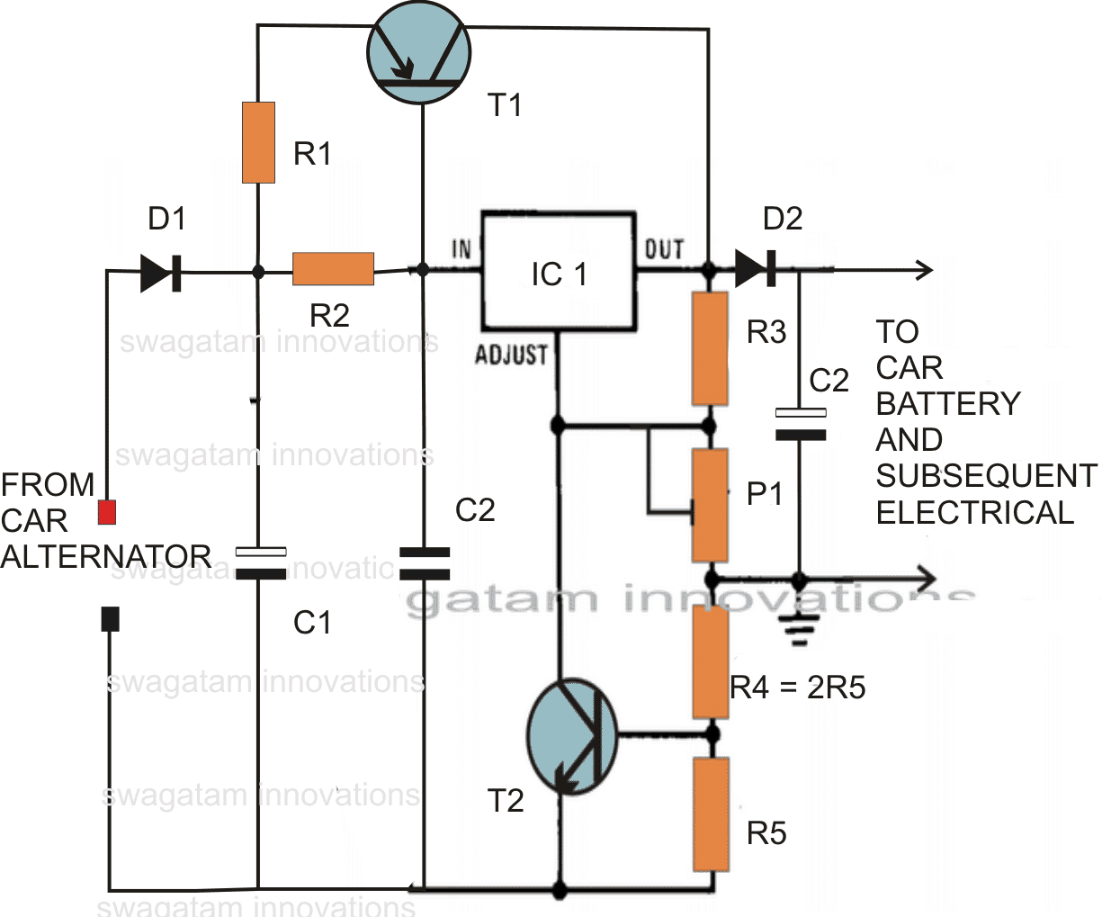 Make This Voltage Stabilizer Circuit For Your Car