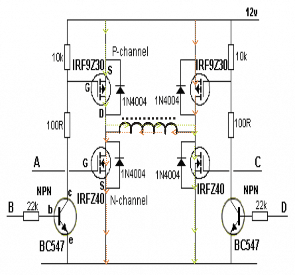 H Bridge Schematic 24vdc