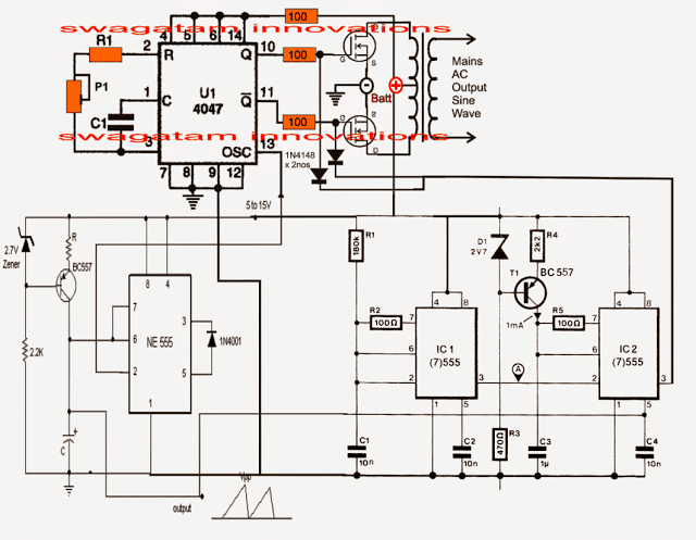 pure sine wave inverter circuit diagram  wiring library