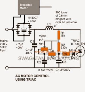Treadmill Motor Speed Controller Circuit | Homemade