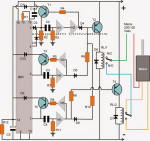Washing Machine Motor Agitator Timer Circuit | Homemade