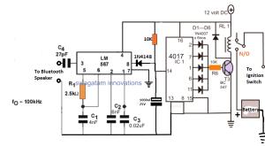 Bluetooth Car Ignition Lock Circuit