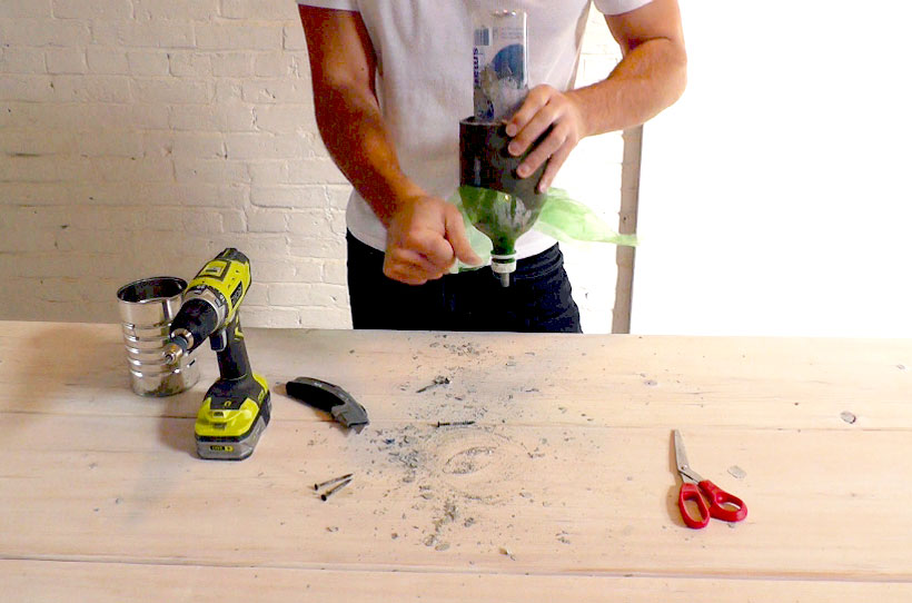 HomeMade Modern DIY EP9 Concrete Pendant Lamp Step 7
