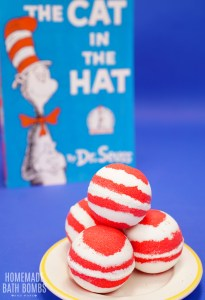 Cat in the Hat Bath Bombs - Red and White Striped Bath Bombs