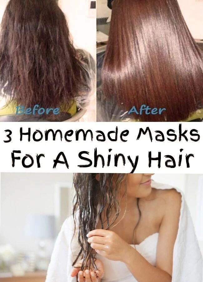 3 Homemade Masks For A Shiny Hair