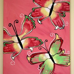 Butterfly Print Painting