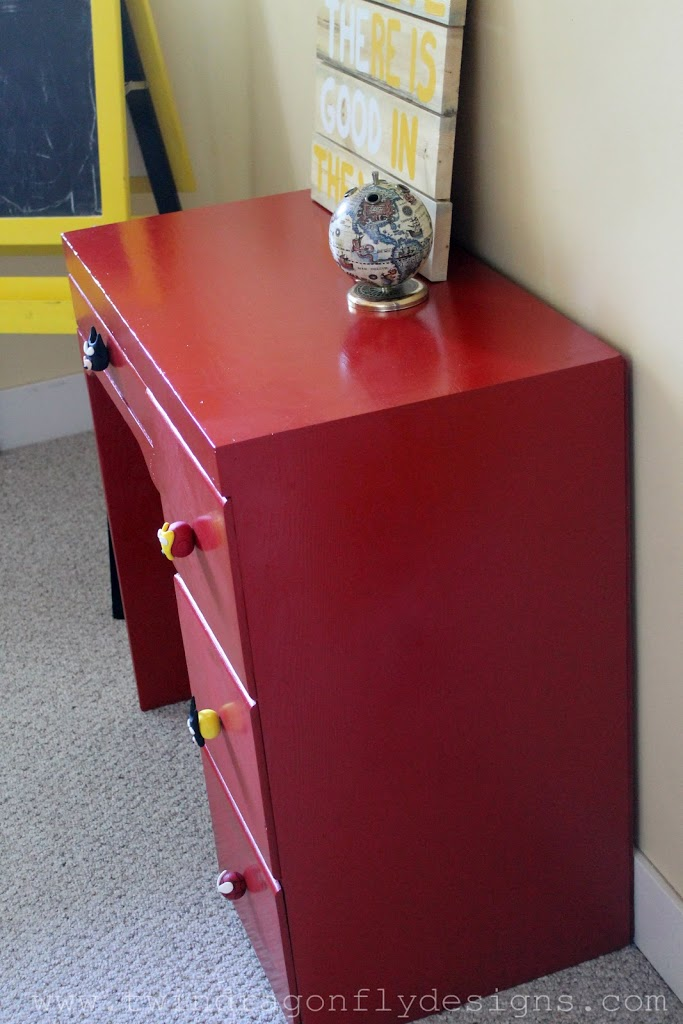 DIY Red Superhero Desk
