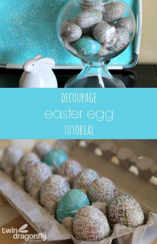 Decoupage Easter Eggs Tutorial