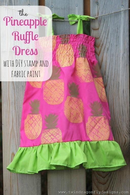 DIY Pineapple Ruffle Dress