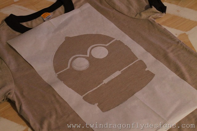 Star Wars Freezer Paper Stencilled T-shirt Tutorial