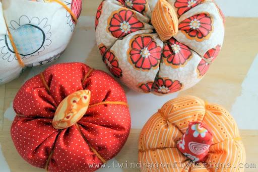 Scrap Fabric Pumpkins