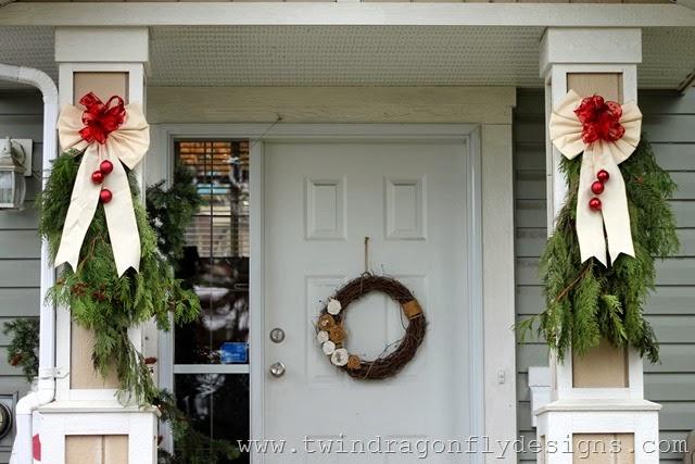 DIY Christmas Evergreen Swag