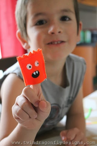 Monster Finger Puppets ~ One For The Boys