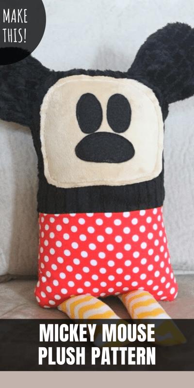 free mickey mouse plush pattern