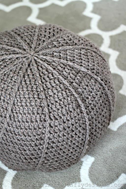 Crochet Floor Pouf