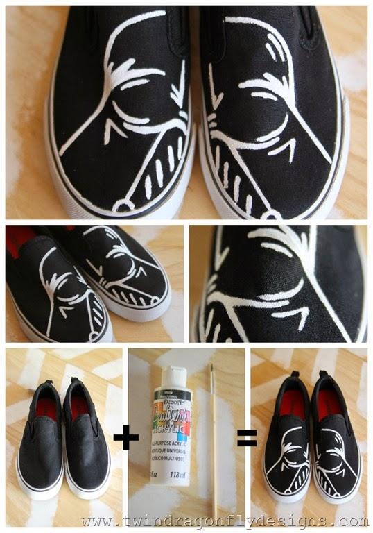 Darth Vader Shoes Tutorial