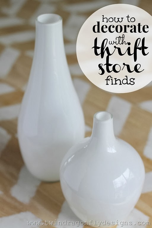 How to decorate with thrift store finds