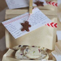 Pistachio, Cranberry & White Chocolate Shortbread Recipe