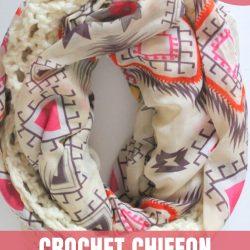 crochet chiffon infinity scarf