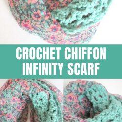 crochet chiffon infinity scarf pattern