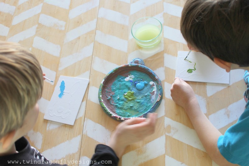 Watercolor and Glue Bunny Craft for Kids