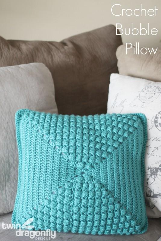 Crochet Bubble Pillow & Giveaway