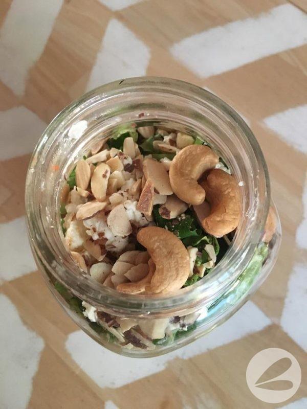 Strawberry Almond Salad in a Jar