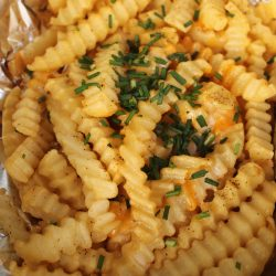 Tinfoil Packet Cheesy Fries