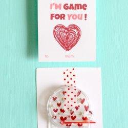Pinball Game Valentine with Free Printable