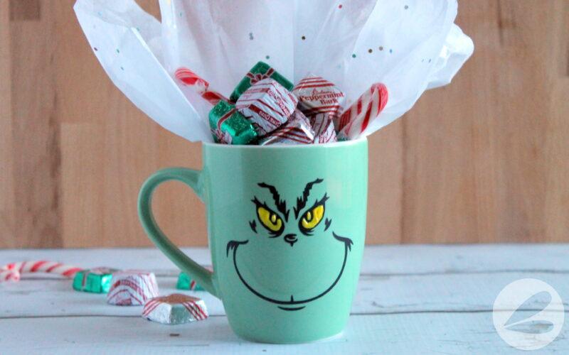 diy grinch mug gift idea