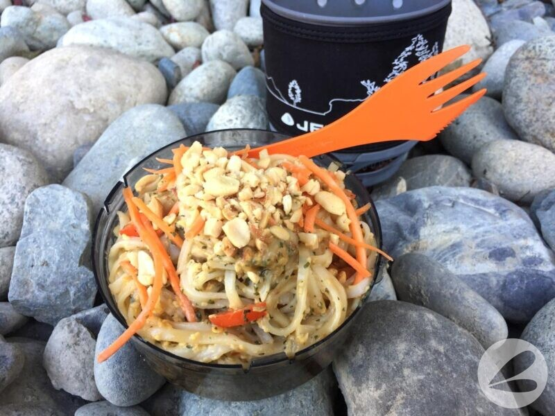 backpacking pad thai recipe eating
