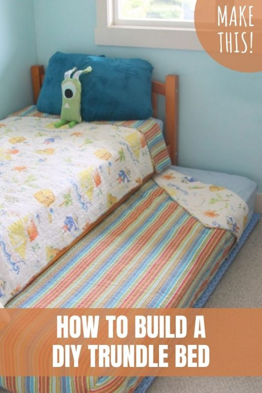 how to build a diy trundle bed