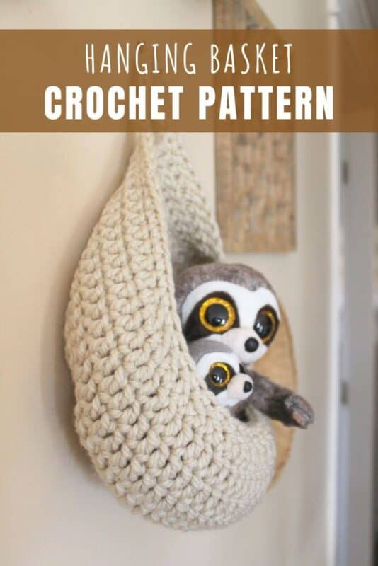 hanging basket crochet pattern