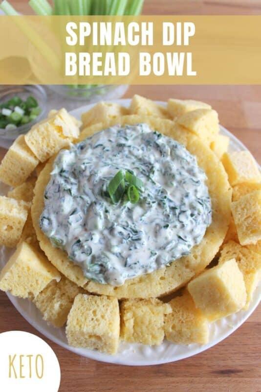 keto spinach dip bread bowl recipe