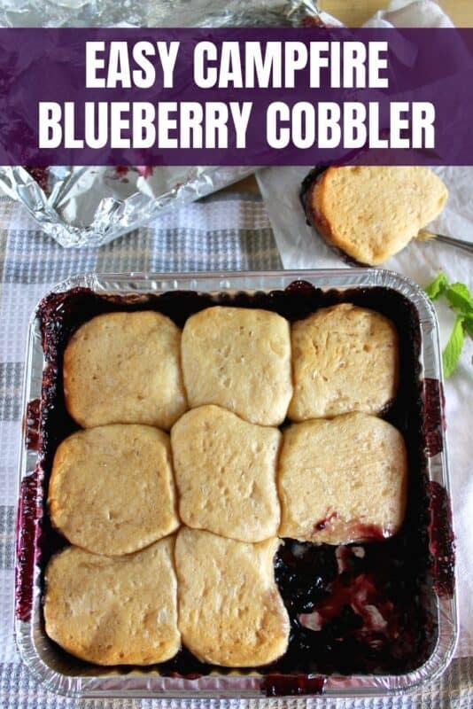 Easy Campfire Blueberry Cobbler Recipe
