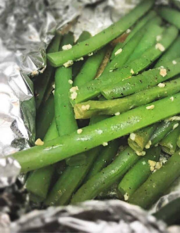 foil roasted green beans x